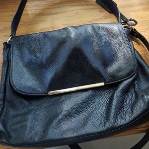 Banana Republic black leather handbag